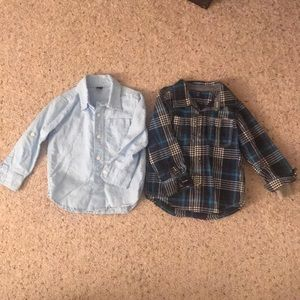 Baby Gap size 3T button down shirts